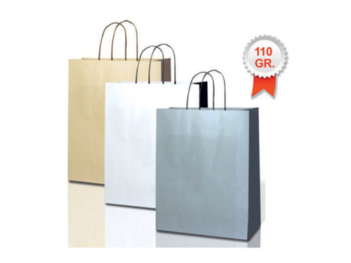 buste shopper in carta bicolore