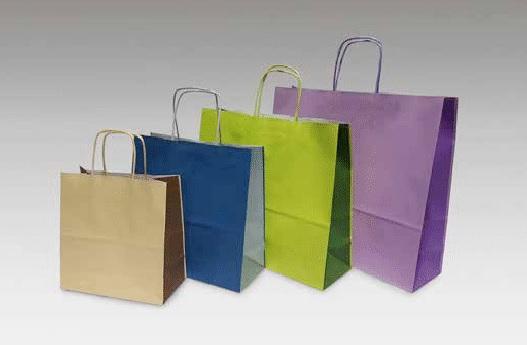 buste-shopper-carta-bicolore-cordino-kraft-bianco-maniglia-ritorta-colorata-beige-verde-blu argento-lilla-linea-bicolore