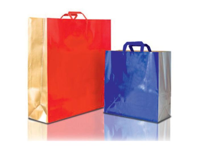 buste carta shopper bicolore manico piatto