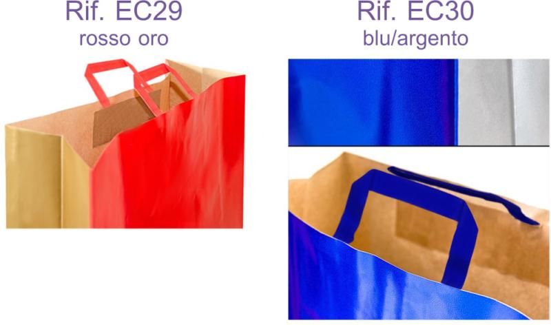 buste carta shopper bicolore