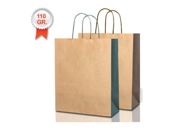 buste carta shopper bicolore kraft avana