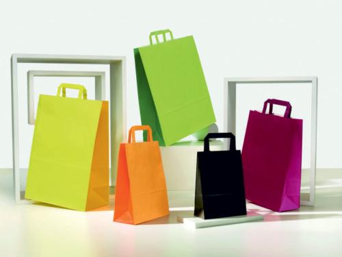 buste shopper carta bicolore manico piatto