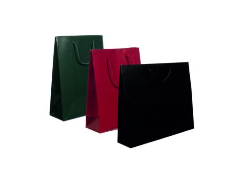 busta-shopper-lusso-plastificato-lucido-opaco-manico-corda-fettuccia-nastro-rinforzi-lucidi-verticali