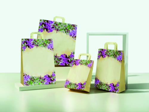 buste-shopper-carta-kraft-bianco-maniglia-piatta-piattina-colorata-difiori-pesco